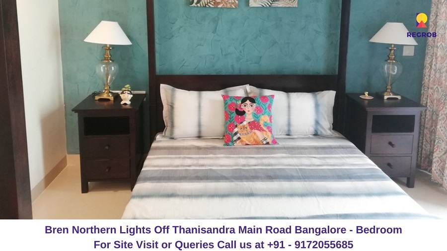 Bren Northern Lights Off Thanisandra Main Road Bangalore Bedroom
