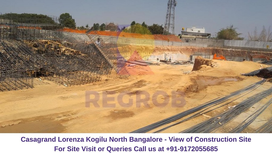 Casagrand Lorenza Kogilu North Bangalore Actual View of Construction Site