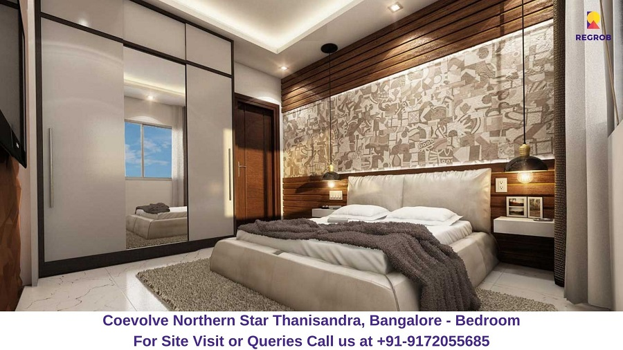 Coevolve Northern Star Thanisandra, Bangalore Bedroom