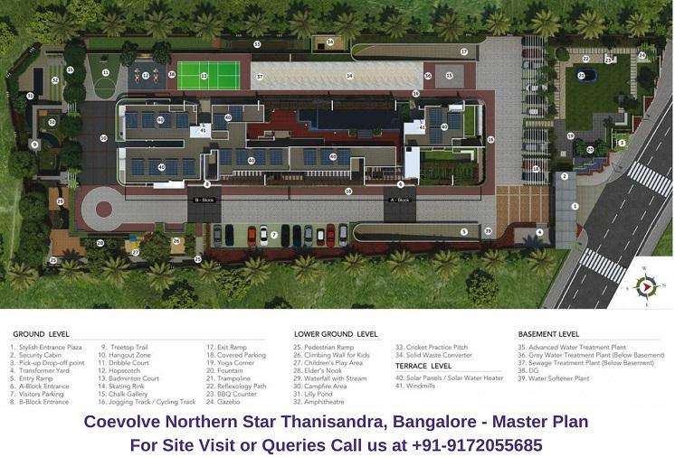 Coevolve Northern Star Thanisandra, Bangalore Master Plan