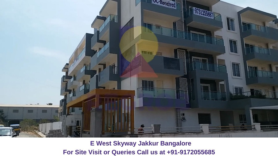 E West Skyway Jakkur Bangalore Actual View