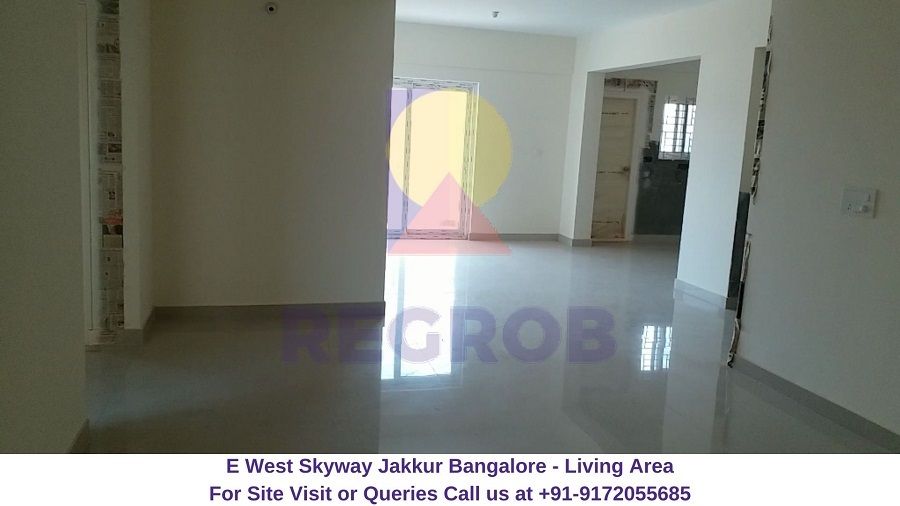 E West Skyway Jakkur Bangalore Living Area