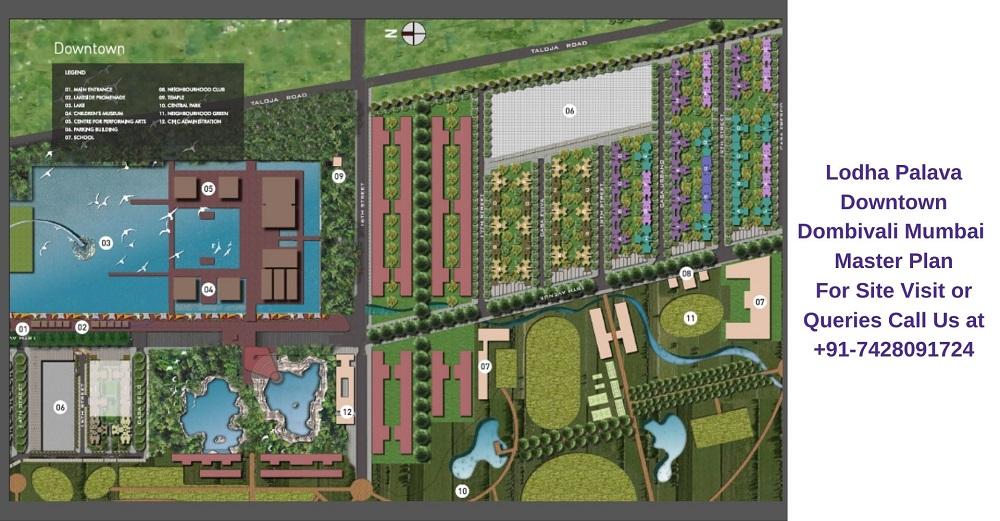 Lodha Palava Downtown Mumbai Master Plan