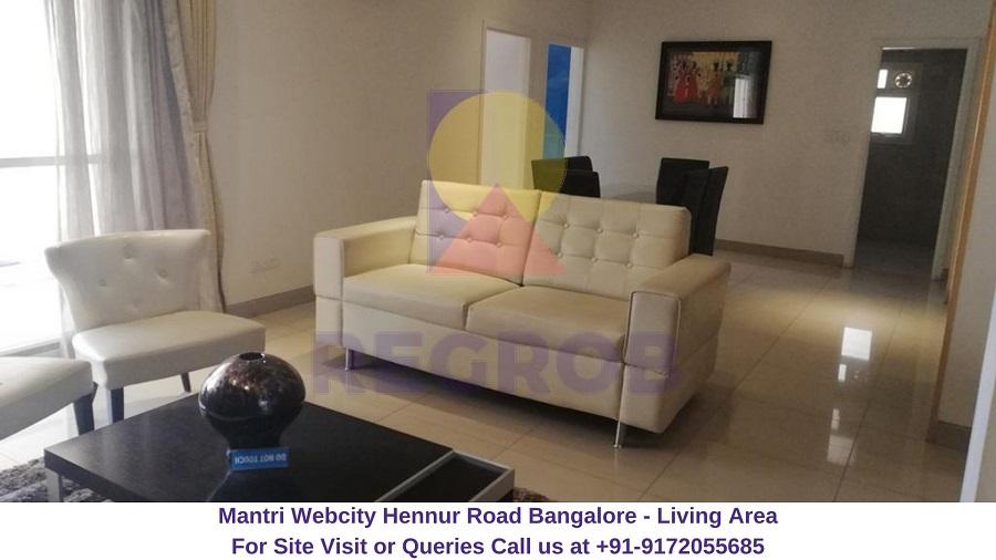 Mantri Webcity Hennur Road Bangalore Living Area