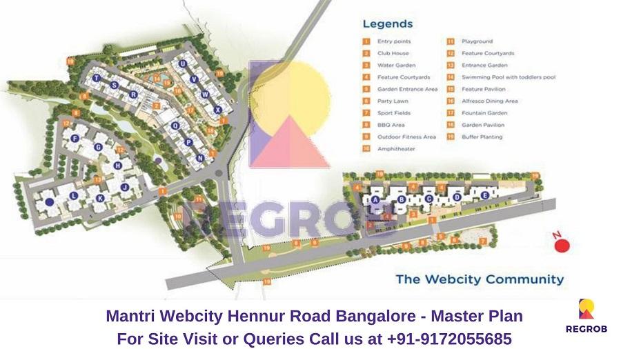Mantri Webcity Hennur Road Bangalore Master Plan