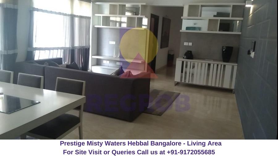 Prestige Misty Waters Hebbal North Bangalore Living Area