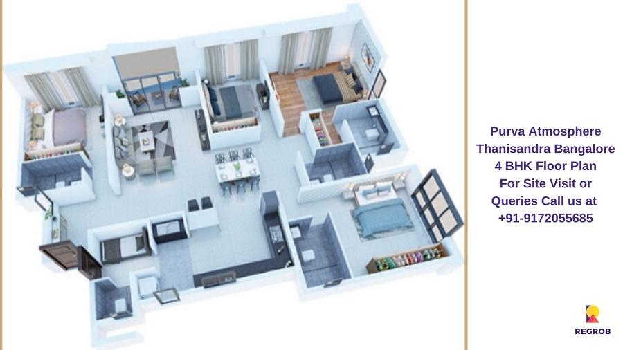 4 BHK Floor Plan
