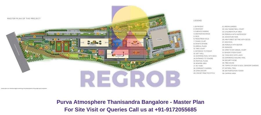 Purva Atmosphere Thanisandra Bangalore Master Plan