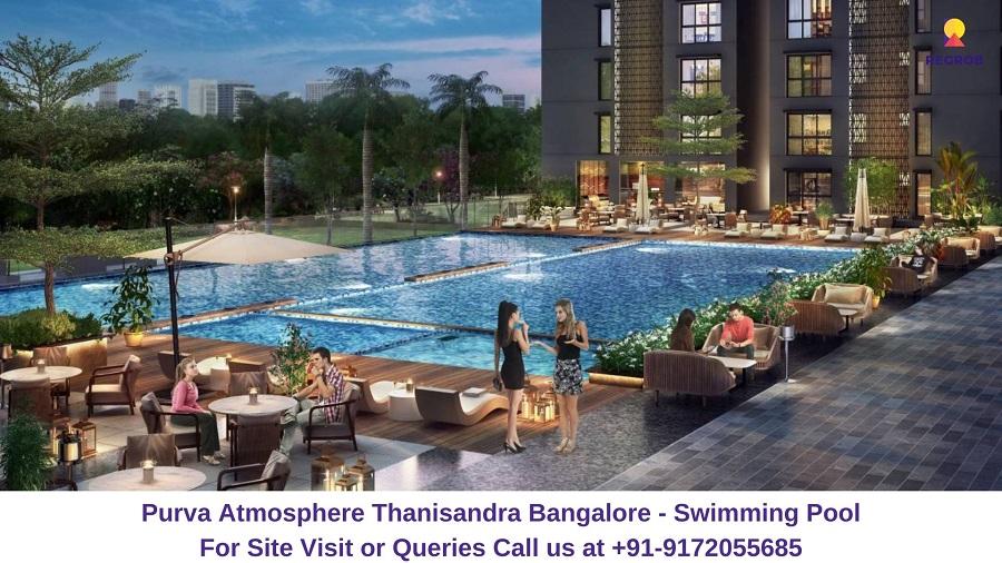 Purva Atmosphere Thanisandra Bangalore Swimming Pool