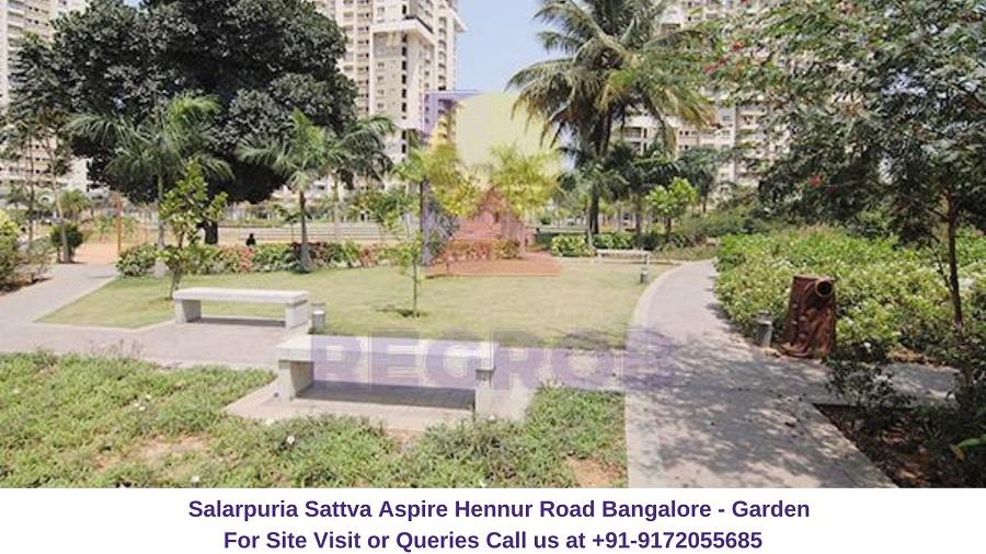 Salarpuria Sattva Aspire Hennur Road Bangalore Garden Area