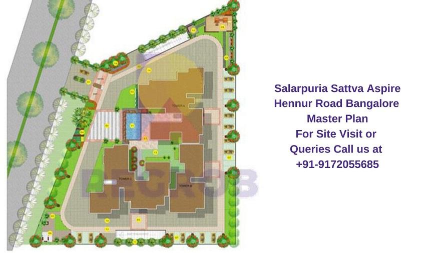Salarpuria Sattva Aspire Hennur Road Bangalore Master Plan