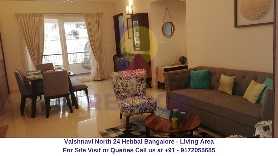 Vaishnavi North 24 Hebbal Bangalore Living Area