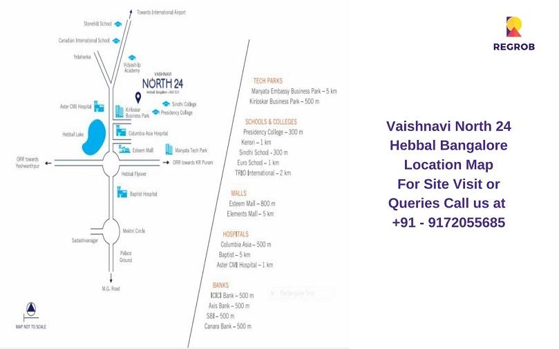 Vaishnavi North 24 Hebbal Bangalore Location Map
