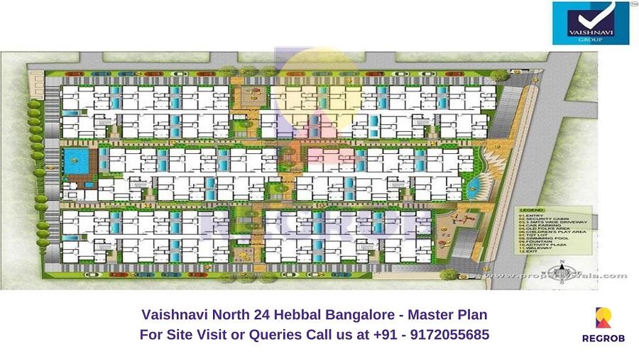Vaishnavi North 24 Hebbal Bangalore Master Plan