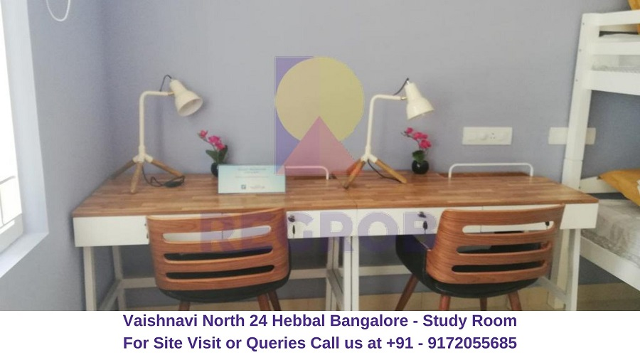 Vaishnavi North 24 Hebbal Bangalore Study Room