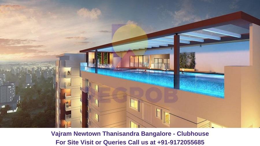 Vajram Newtown Thanisandra Bangalore Clubhouse