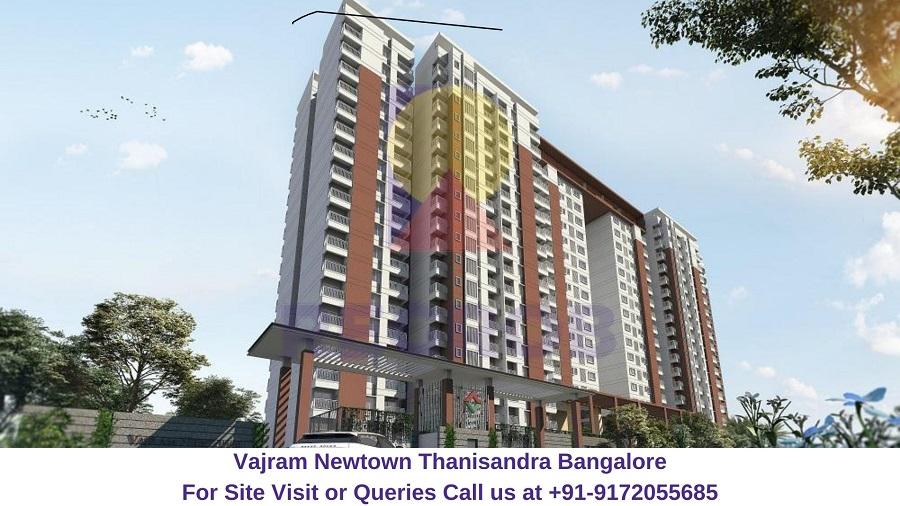 Vajram Newtown Thanisandra Bangalore Elevated View (1)