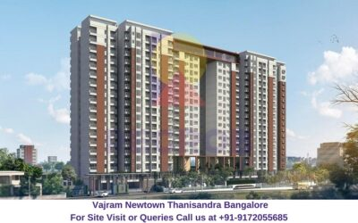 Vajram Newtown Thanisandra Bangalore Elevated View (2)