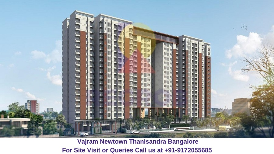 Vajram Newtown Thanisandra Bangalore Elevated View (2)