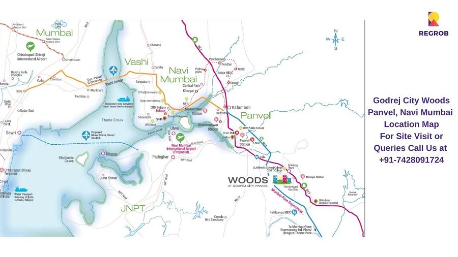 Godrej City Woods Panvel, Navi Mumbai Location Map