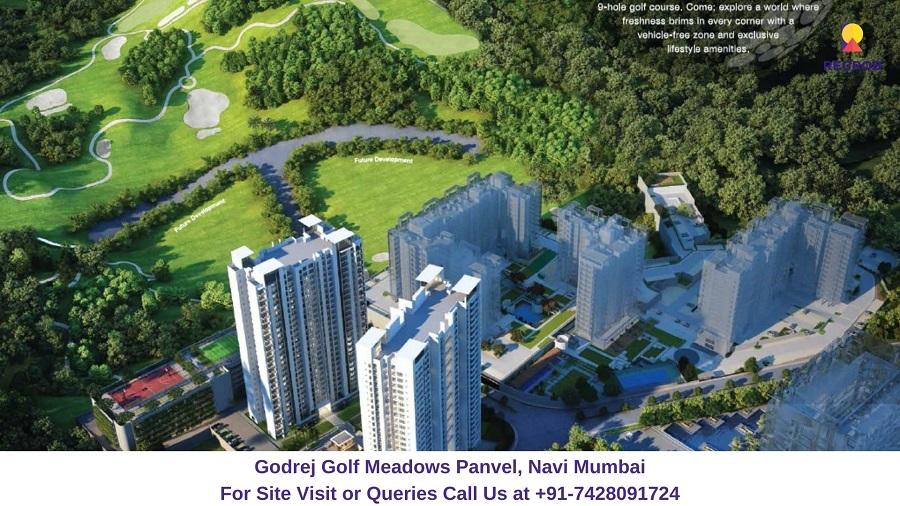 Godrej Golf Meadows Panvel, Navi Mumbai Aerial View