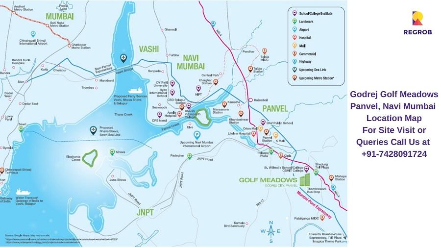 Godrej Golf Meadows Panvel, Navi Mumbai Location Map
