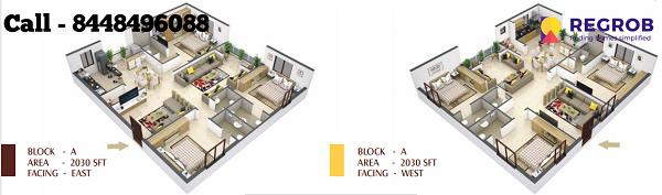 Northface Grandeur 3 BHK Floor Plan