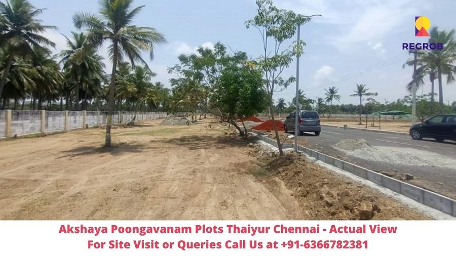 Akshaya Poongavanam Plots Thaiyur Chennai Actual View of Site (1)