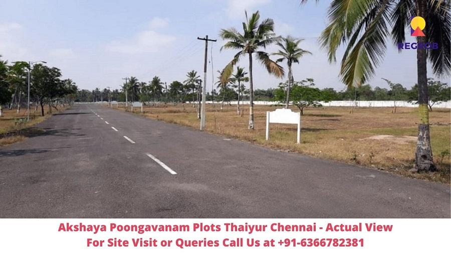 Akshaya Poongavanam Plots Thaiyur Chennai Actual View of Site (2)