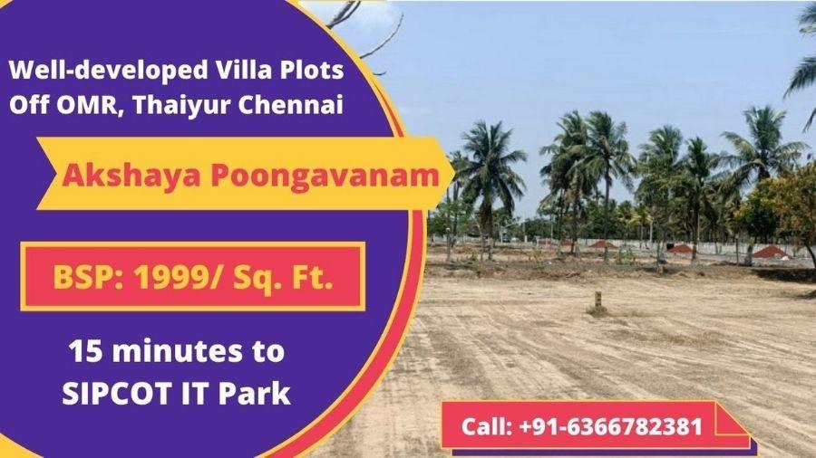 Akshaya Poongavanam Plots Thaiyur off OMR Chennai
