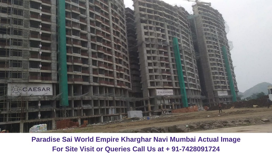 Paradise Sai World Empire Kharghar Navi Mumbai Construction Site (3)