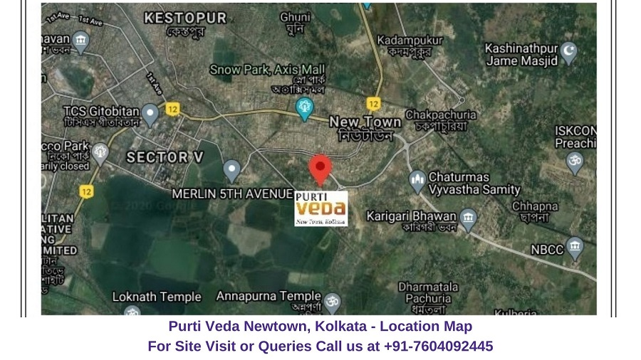 Purti Veda Newtown Kolkata Location Map