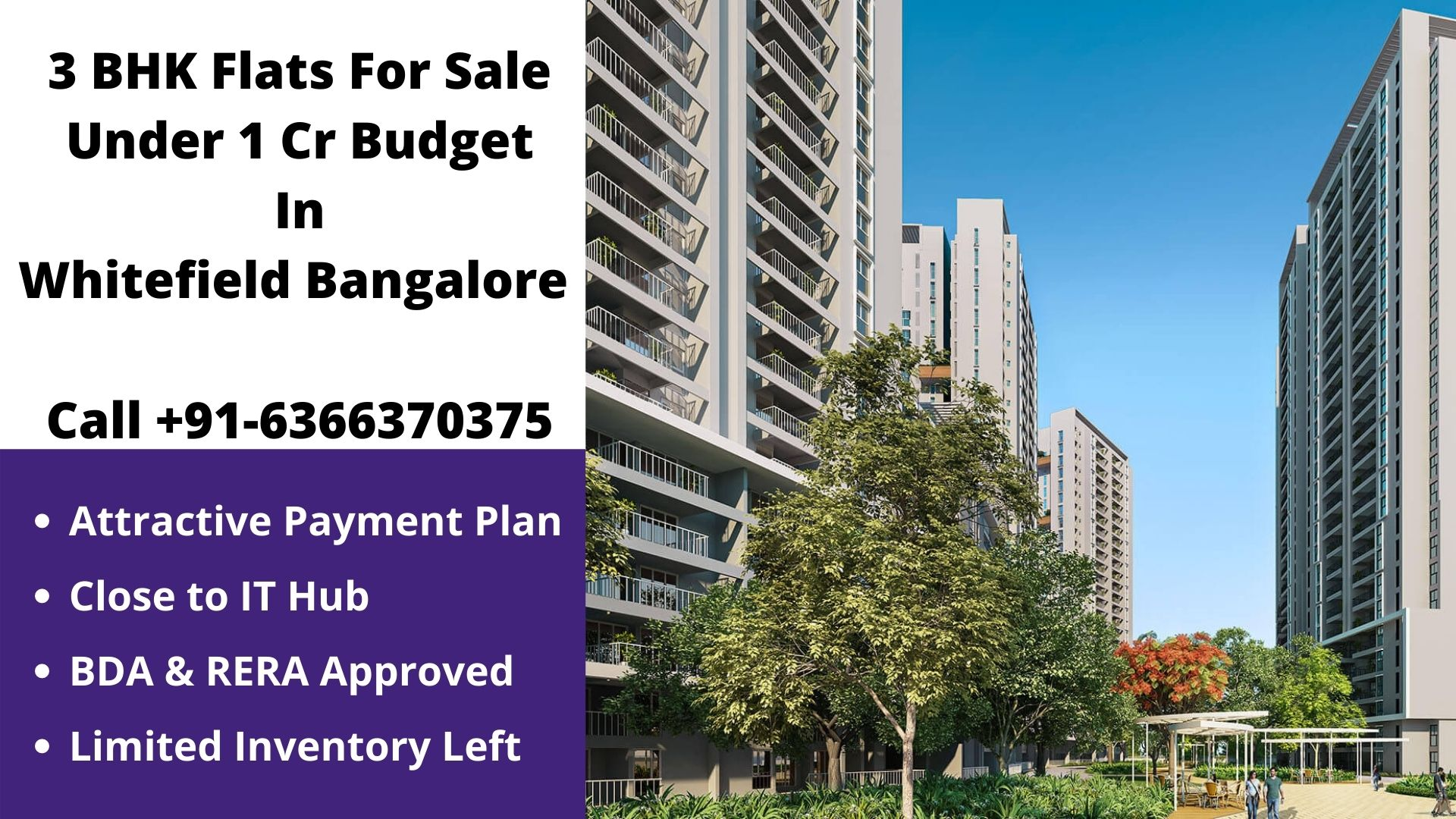 3 bhk flats under 1 cr in whitefield bangalore
