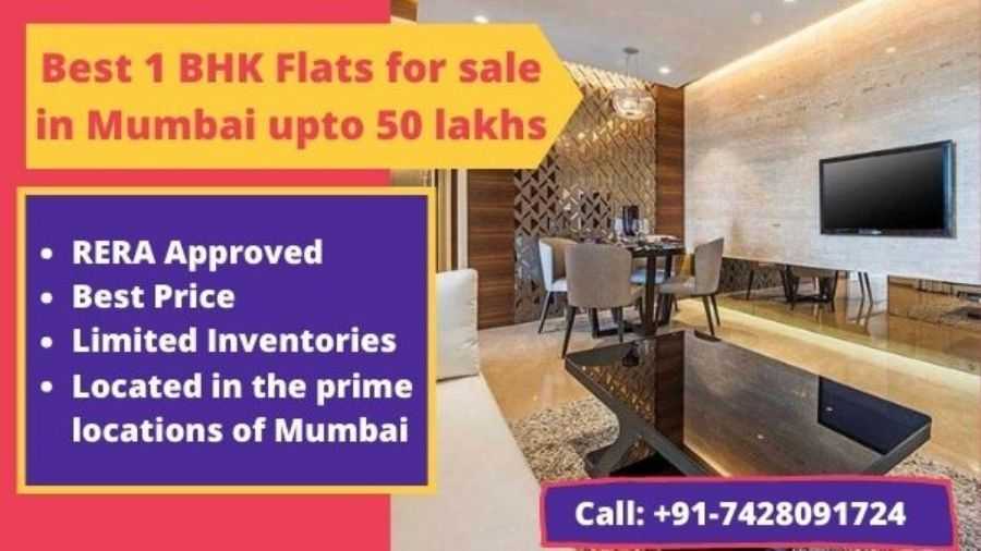 Best 1 BHK Flats for sale in Mumbai upto 50 lakhs