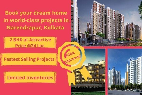 2 BHK flats for sale in Narendrapur Kolkata