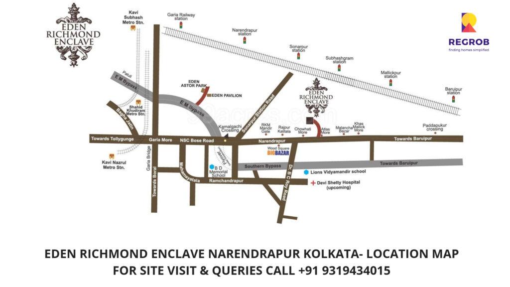 Eden Richmond Enclave Location Map