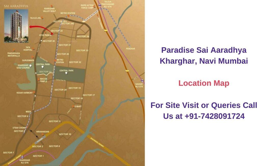 Paradise Sai Aaradhya Kharghar, Navi Mumbai Location Map