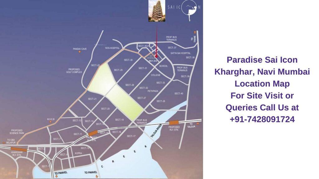 Paradise Sai Icon Kharghar, Navi Mumbai Location Map