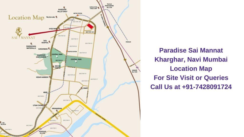 Paradise Sai Mannat Kharghar, Navi Mumbai Location Map