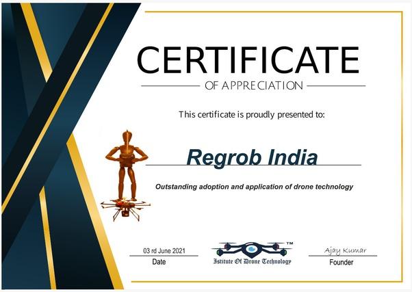 regrob certificate