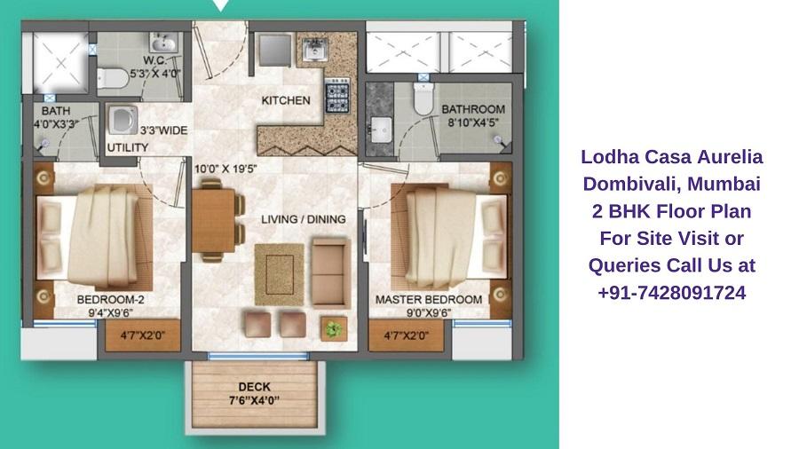 Lodha Casa Aurelia Dombivali, Mumbai 2 BHK Floor Plan