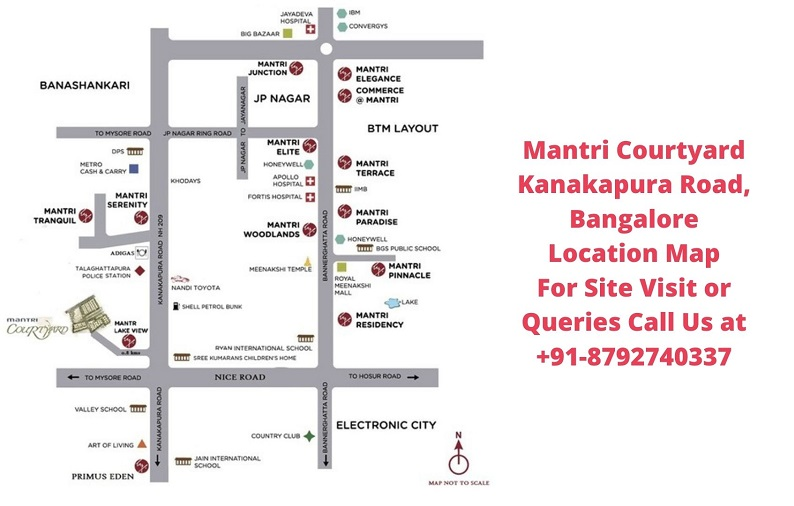 Mantri Courtyard Kanakapura Road, Bangalore Location Map