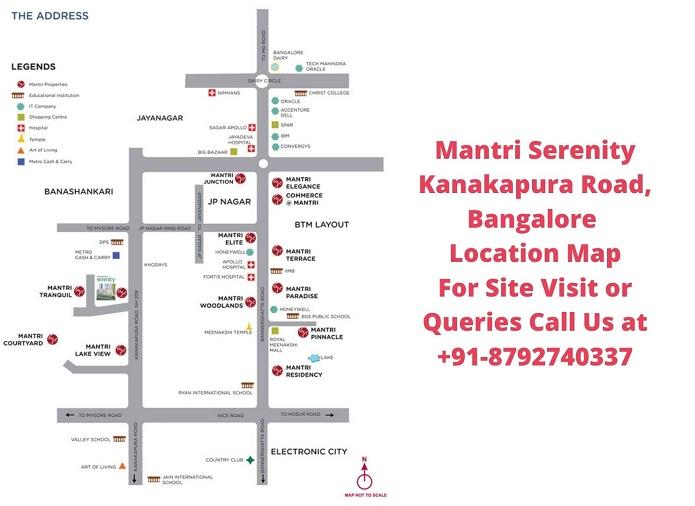Mantri Serenity Kanakapura Road, Bangalore Location Map