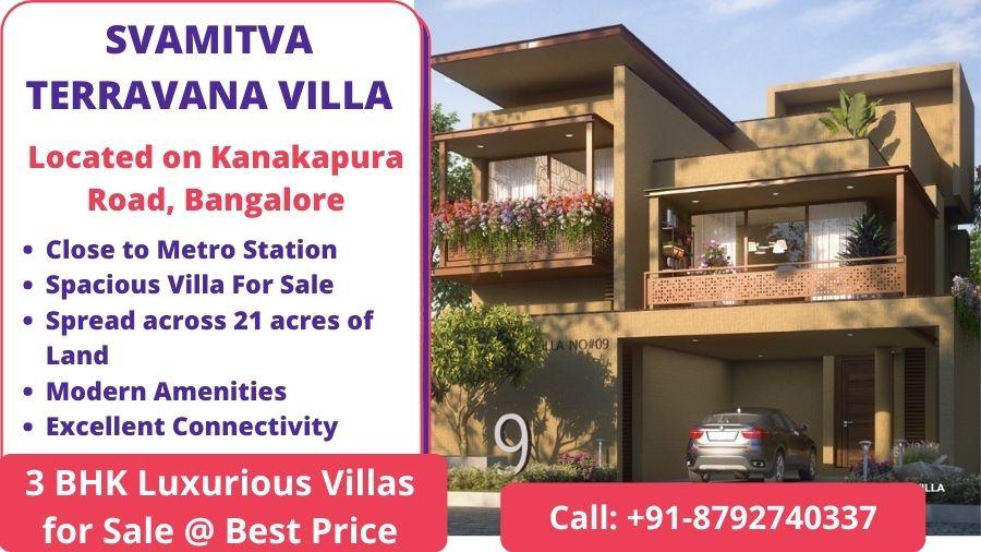 SVAMITVA TERRAVANA VILLA Kanakapura Road, Bangalore