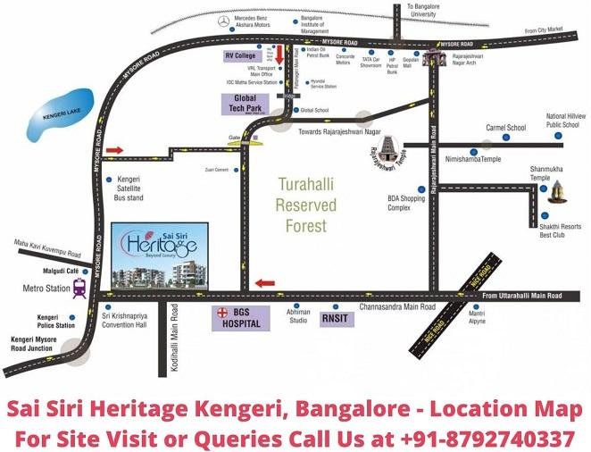 Sai Siri Heritage Kengeri, Bangalore Location Map