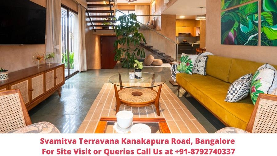 Svamitva Terravana Villa Kanakapura Road, Bangalore Living Area