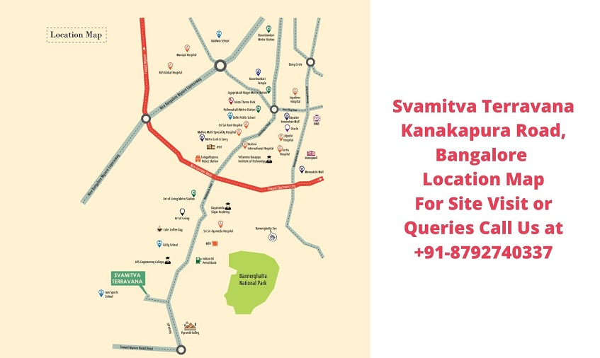 Svamitva Terravana Villa Kanakapura Road, Bangalore Location Map