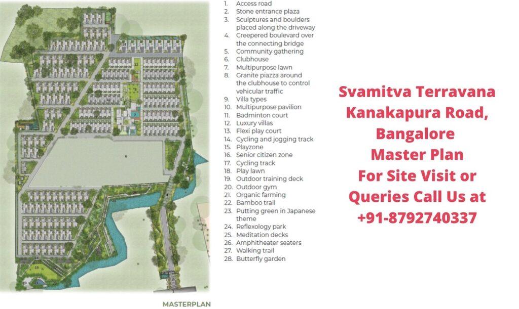Svamitva Terravana Villa Kanakapura Road, Bangalore Master Plan