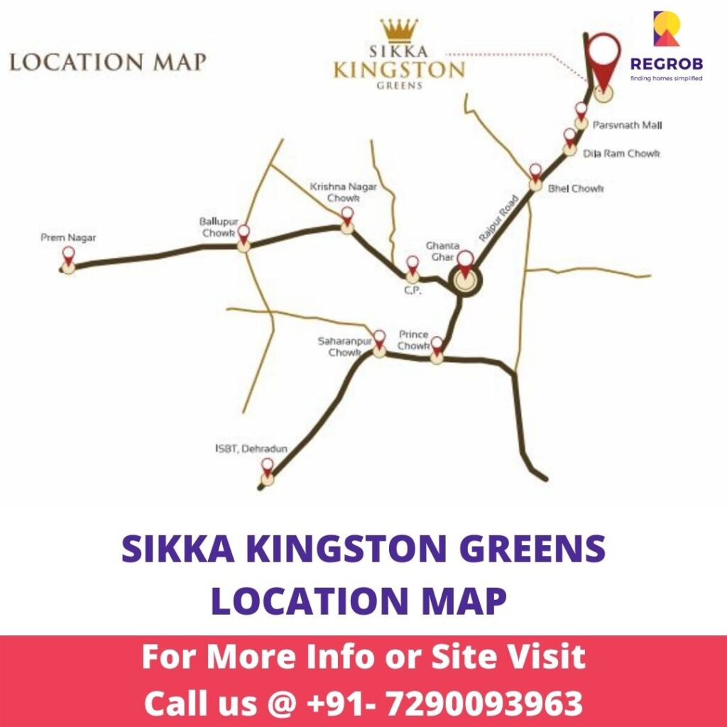 Sikka Kingston Greens Location Map