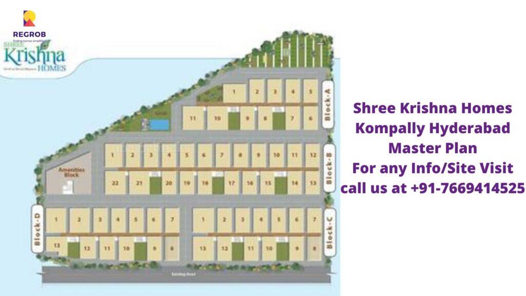Shree Krishna Homes Kompally Hyderabad Master Plan
